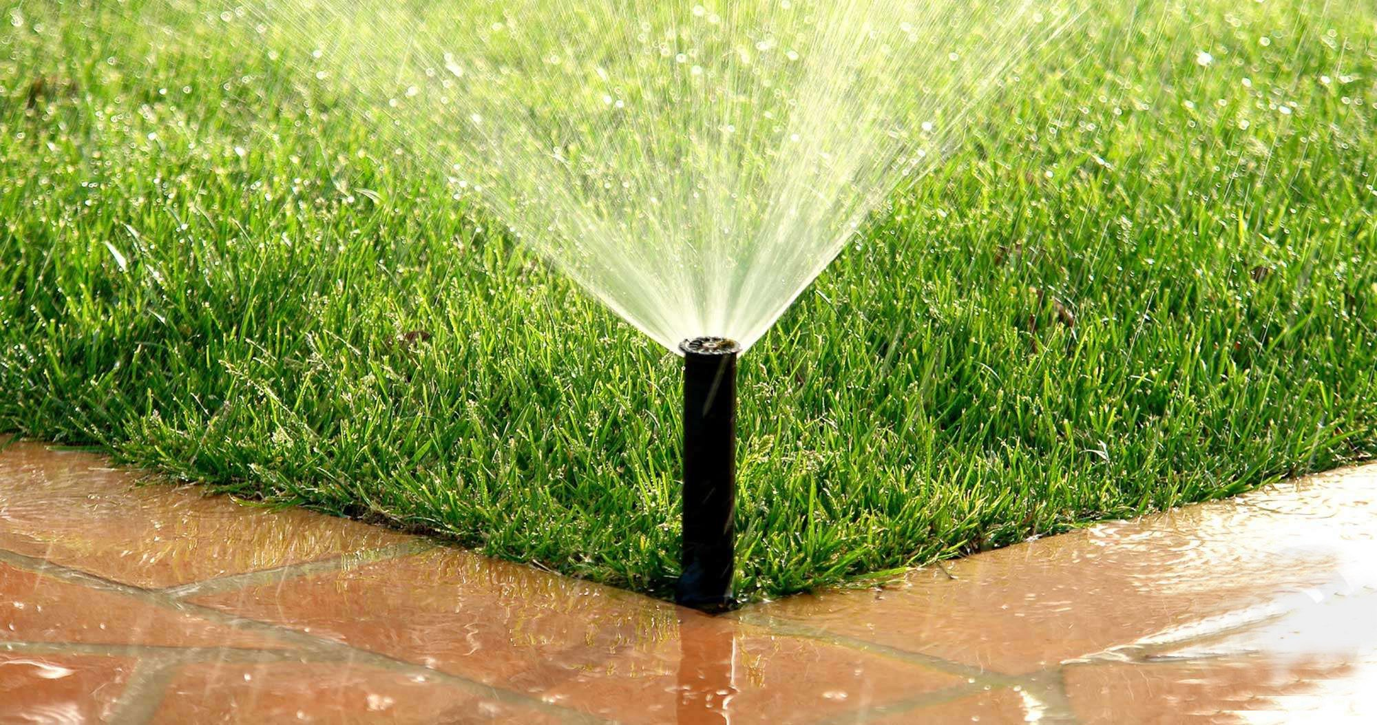 What effect will you get when you use an irrigation system on your lawn?